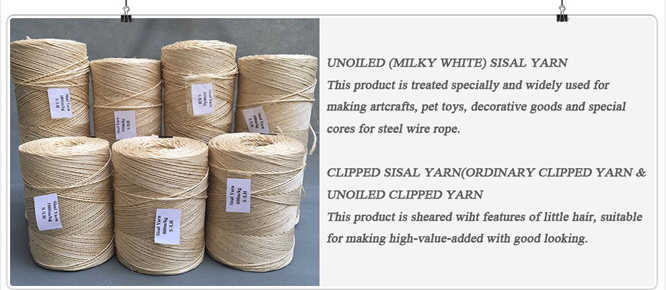 SISAL YARN FOR MAKING SISAL ROPE/PACKING
