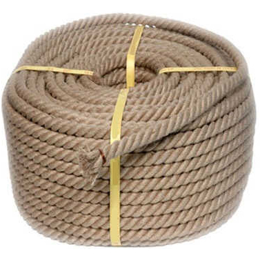 3 STRAND JUTE ROPE MADE BY 100% NATURAL JUTE FIBERS