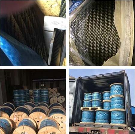 6x7+FC galvanized steel wire rope